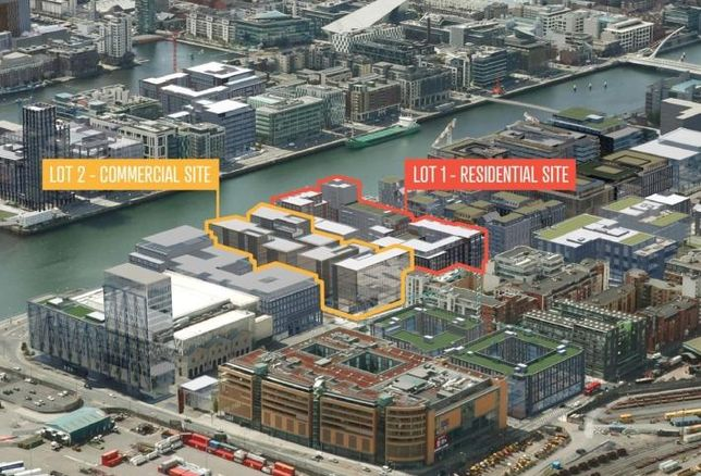 Artist's rendering of how the commercial and residential elements of Project Waterfront will fit into their surroundings