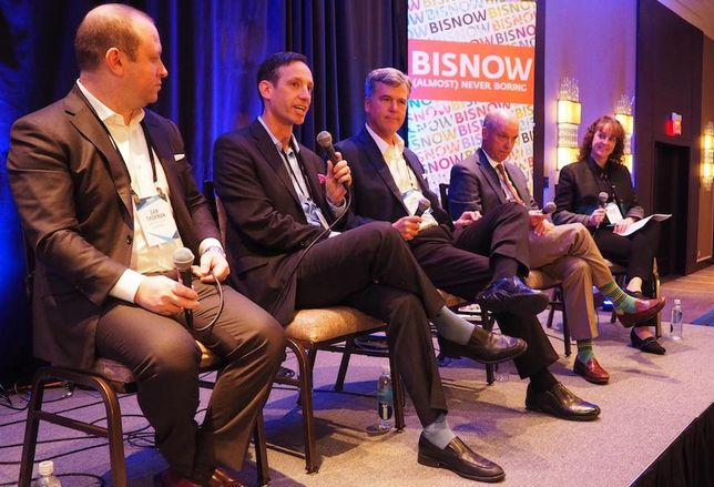 Kimpton Hotels' Dan Thorman, Woodmont Lodging's Michael Blank, Oxford Capital's John Rutledge and Kalibri Labs' Mark Lomanno