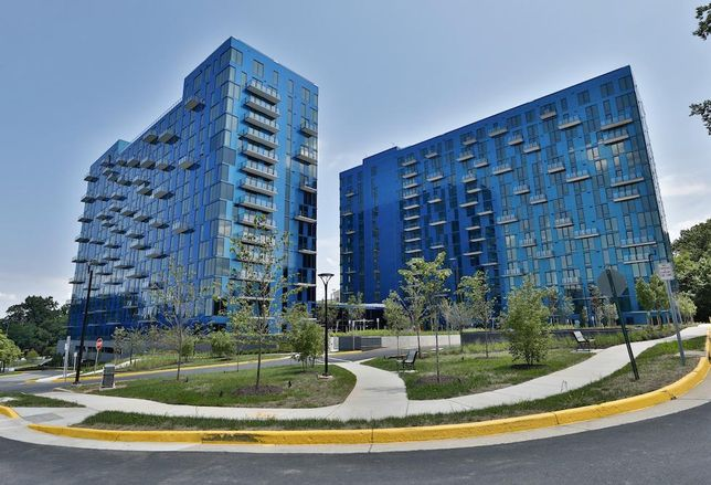 The Greystar-developed EXO Apartments in Reston, Virginia, built with View Dynamic Glass