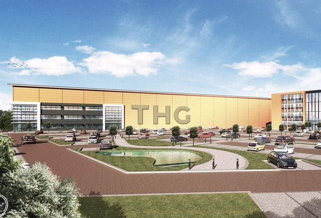 alled ICON, will house The Hut Group's (THG) new logistics and content creation studio in a 168,000 sq ft warehouse as well as providing 104,000 sq ft of office space over four floors. The development is part of THG's co-location at Manchester Airport which includes a new 280,000 sq ft office building at Airport City North.