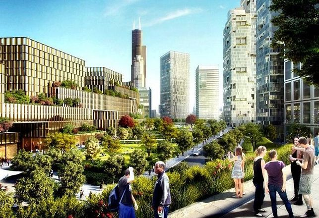 Related Midwest's vision for The 78, its new project that will soon rise on the Near South Side along the Chicago River.