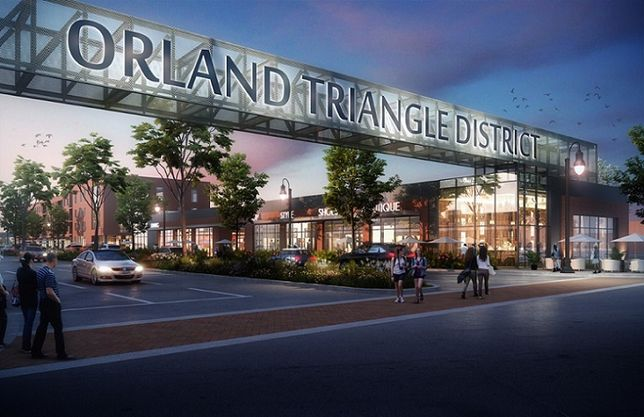 """Structured Development was selected to develop the final phase of the Downtown Main Street """"Triangle"""" property in Orland Park, Ill. Comprising five individual parcels, it is part of a 27-acre master plan with a mix of residential and commercial uses."""