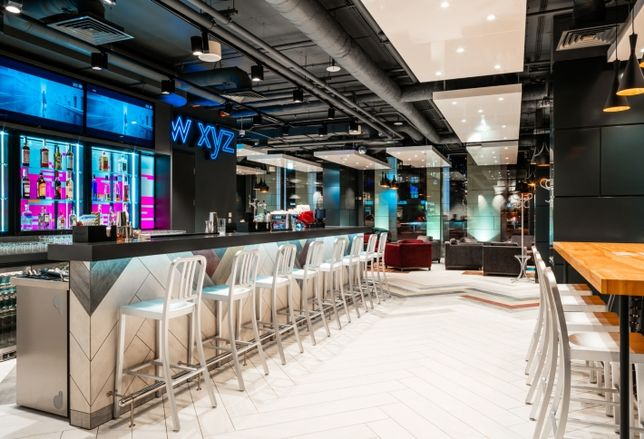 The W XYZ bar the Aloft Kiev, which opened in May 2018