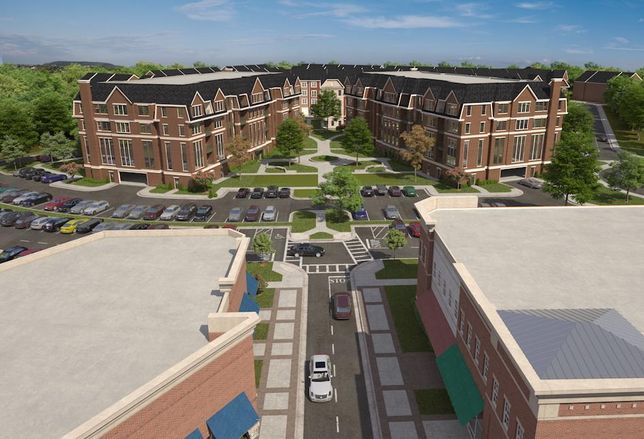 Rendering of the planned Pender Oaks residential development in Fairfax, Virginia