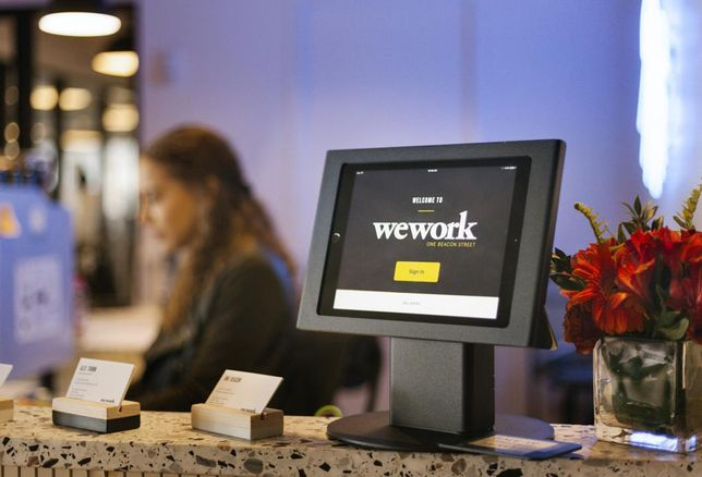 reception front desk wework