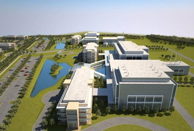 Artist's rendering of the Wuxi Biologics plant in Dundalk