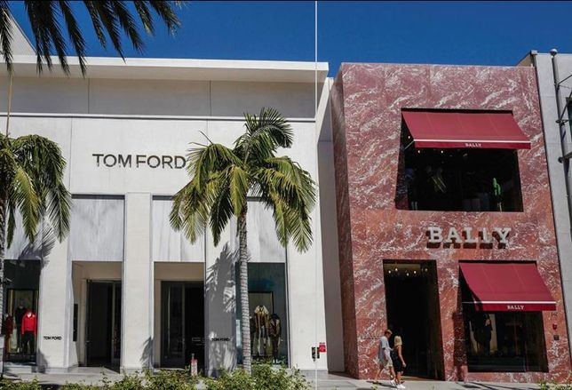 two-story retail property at 338 - 346 N. Rodeo Drive