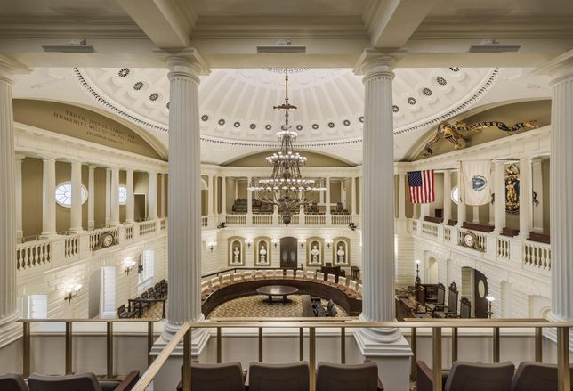 First Look: Inside The $22.6M Renovation Of The Massachusetts Senate Chamber