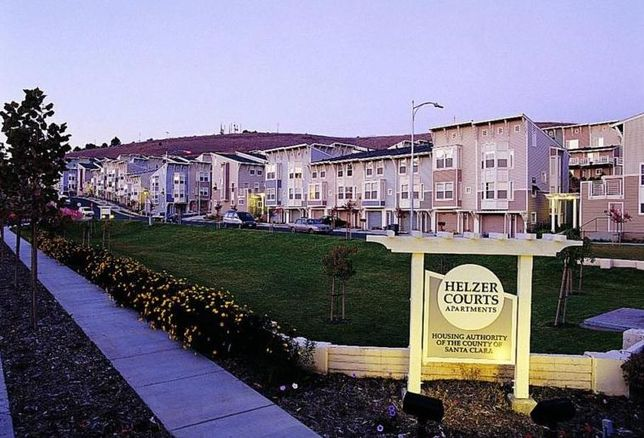 Helzer Courts Apartments in San Jose, a LIHTC property from SCCHA