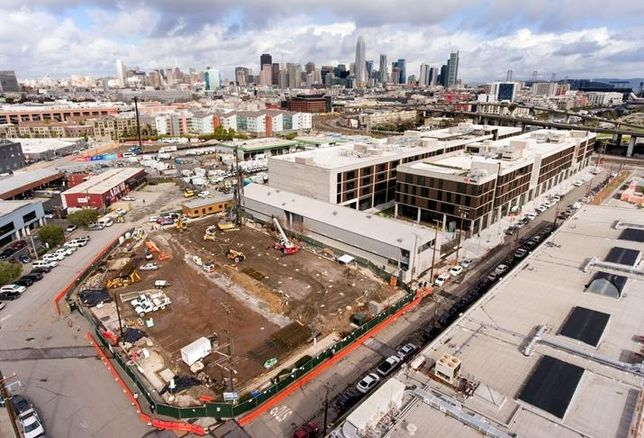 The site for California College of the Arts' new student housing building in San Francisco