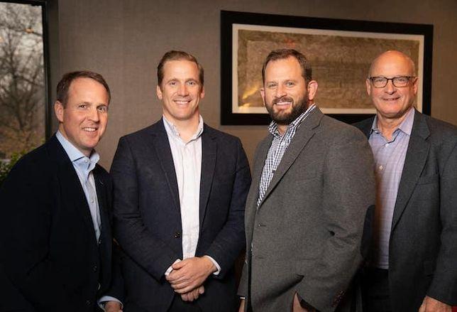 Foulger-Pratt's Cameron Pratt, Bryan Foulger, Brigg Bunker and Peter Ognibene