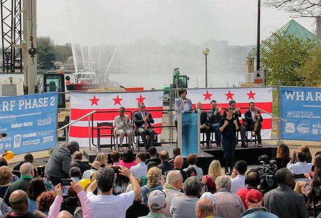 Mayor Bowser  Wharf Phase 2 groundbreaking
