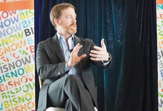 JBG Smith CEO Matt Kelly speaking at Bisnow's Amazon HQ2-Apalooza in February