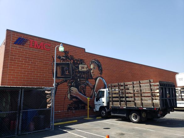 BKM Capital Partners unveiled a new mural at its The Backlot Burbank industrial park
