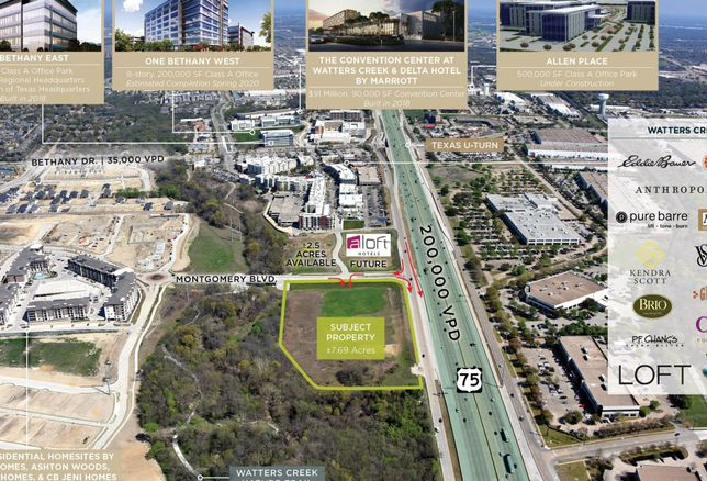 Last Tract With Central Expressway Access In Allen's Watters Creek Is Up For Grabs
