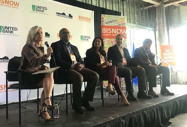 Edwards Performance Solutions' Gina Abate, Tenable's Stephen Riddick, STEER Tech's Anuja Sonalker, Gula Tech Adventure's Ron Gula and CBRE's David Fields