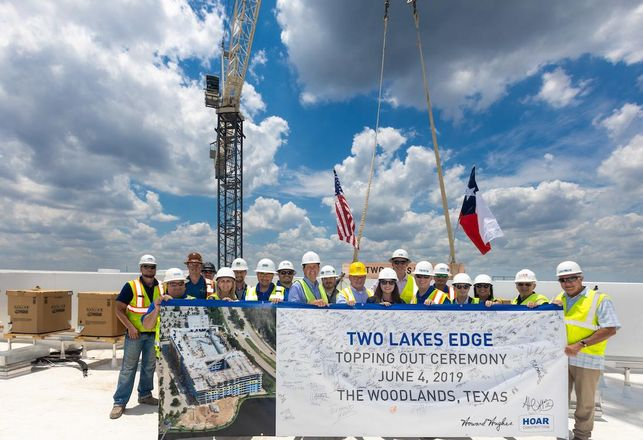 A 386-Unit Apartment Complex Tops Out In The Woodlands