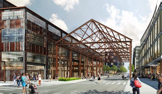 A rendering of Brookfield's Pier 70 project
