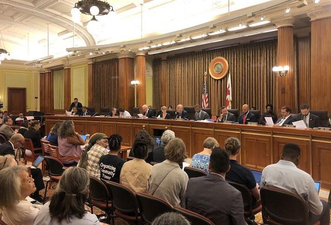 The D.C. Council during Tuesday's meeting on the Comprehensive Plan amendments