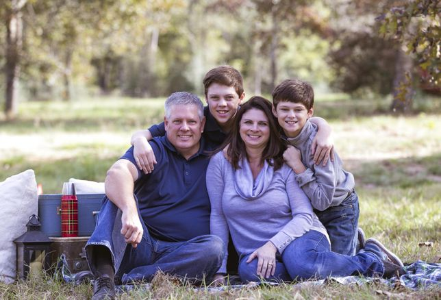 Kim Schell and her family