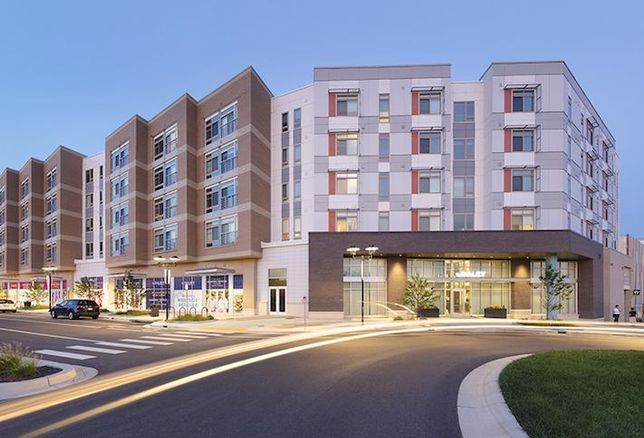 The Daley at Shady Grove, a 333-unit apartment building with retail in Rockville