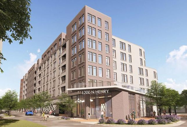 A rendering of the development planned at 1200 North Henry St. in Alexandria