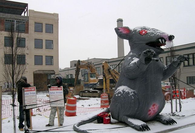 Scabby Under Threat: National Labor Relations Board Tries To Make Union Protest Rat Illegal