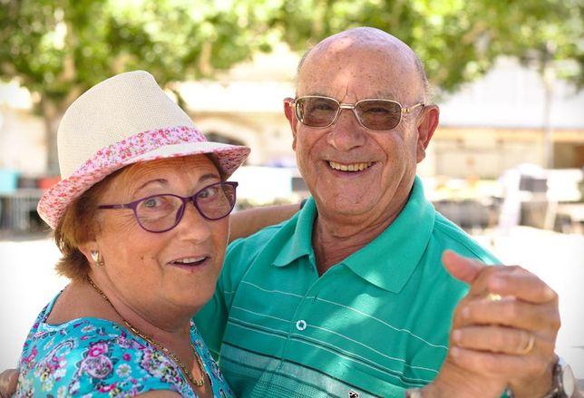 elderly couple senior old people
