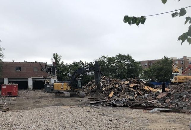Construction underway at the 2607 Reed St. NE site