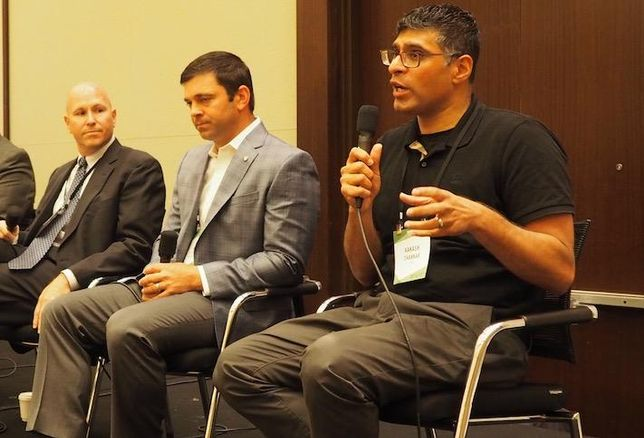 Lantian's Bob Elliott, Federal Realty's James Milam and EYA's Aakash Thakkar