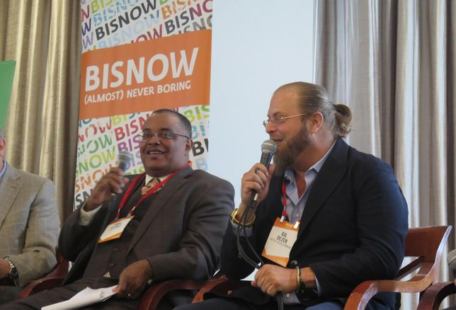 Hans Ottinot and Gil Dezer at a Bisnow event Sept.12, 2019.