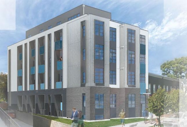 A rendering of the condo project planned at 2310-2312 4th St. NE