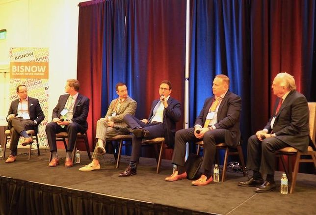 Transom's Bryan Lee, McDermott Quilty & Miller's Joseph Hanley, Gerding Edlen's Matt Edlen, Boston Realty Advisors' Jason Weissman, KIG Real Estate Advisors' Justin Krebs and Chestnut Hill Realty's Edward Zuker