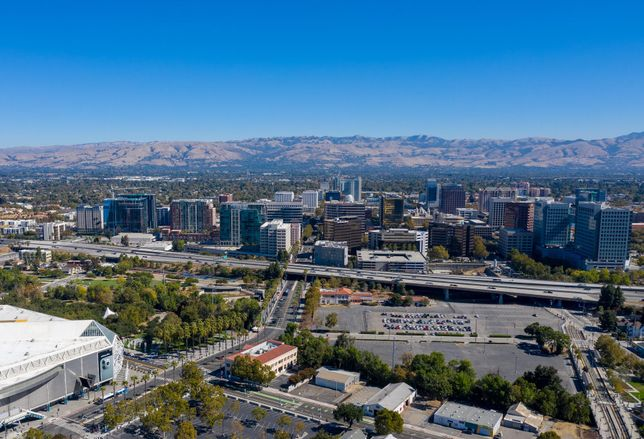 Droneshot San Jose Skyline photo