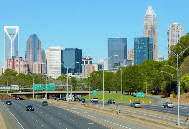 The Charlotte, North Carolina skyline