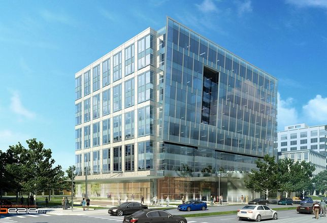 A rendering of 3901 Fairfax Drive, a planned office development in Arlington, Virginia
