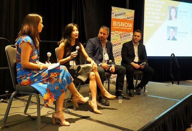 GKA's Sarah Vining Crisafulli, Dream Hotel Group's Judy Chen, Chef Robert Wiedmaier and Streetsense's Jay Coldren