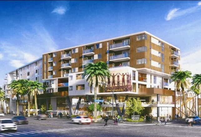 The Charles Co.'s proposed 577-unit District Square mixed-use project in South Los Angeles
