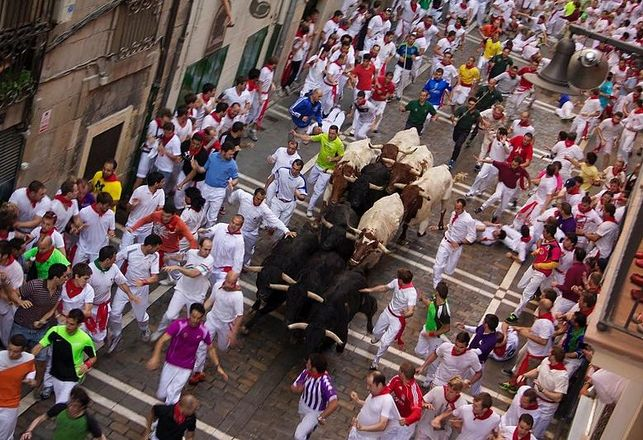 Running with the Bulls on Estafeta Street