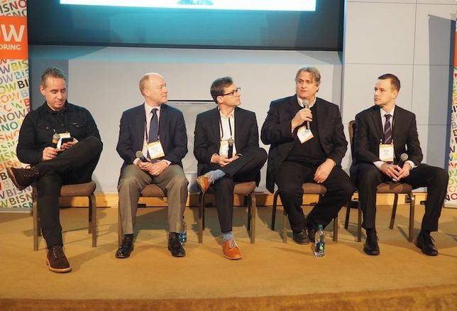 GCS | Sigal's Michael Sigal, Trammell Crow's Campbell Smith, MRP Realty's Matt Robinson, Edens' Steve Boyle and Toll Brothers' Bryan Oos