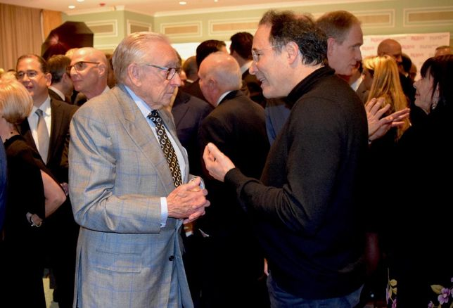 Developers Larry Silverstein and Gary Barnett at the 124th REBNY banquet Jan. 16, 2020