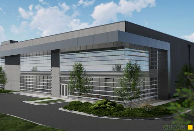 A rendering of one of the data centers Stack Infrastructure and Peterson Cos. have planned for a 125-acre Manassas Campus