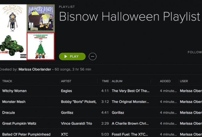 Bisnow Halloween Playlist!