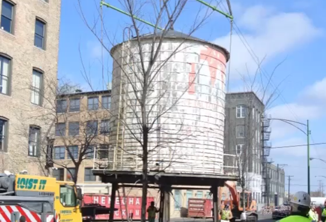 Historic Water Tower in Fulton Market Demolished