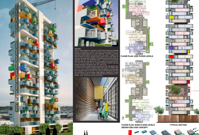 Shipping Container-Built Tower Renderings for Mumbai Slums Resemble Legos