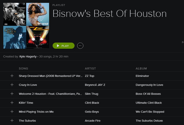 Rock Out This Weekend With Bisnow's Best Of Houston Playlist