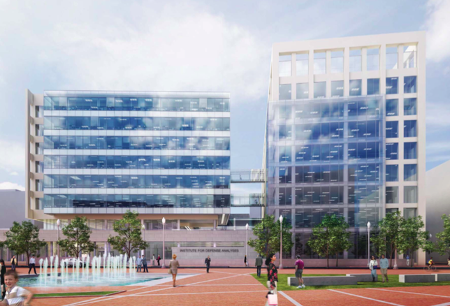 A look at what the Institute for Defense Analyses' future HQ in Alexandria's Potomac Yard district could look like.