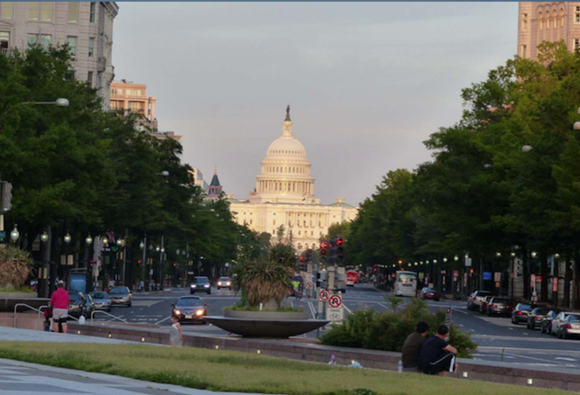 Pennsylvania Avenue view capitol Washington DC