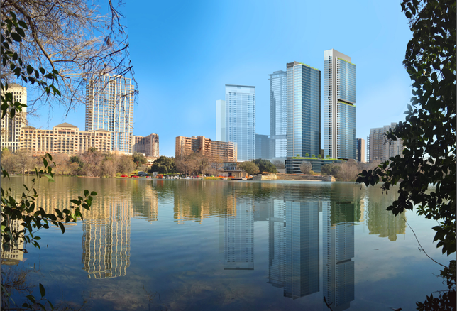 Rendering of Sutton Co's mixed-use project in Waller Creek
