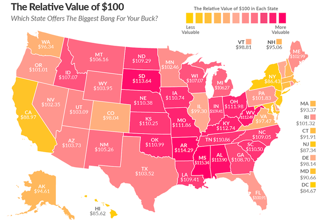Purchasing power map